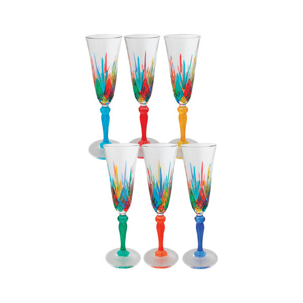 Flûtes à champagne - Les 6