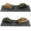 Les 2 duos de chars de la 2ème Guerre mondiale