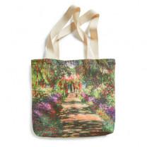 """Sac shopping Monet : """"L'allée dans le jardin"""" BlanClarence®"""
