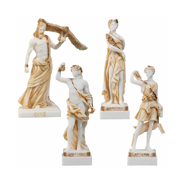 Les quatre divinités Grecques