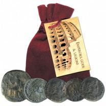 Les cinq pièces en bronze Rome Antique