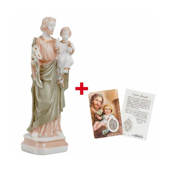 La statuette de Saint Joseph + La carte OFFERTE