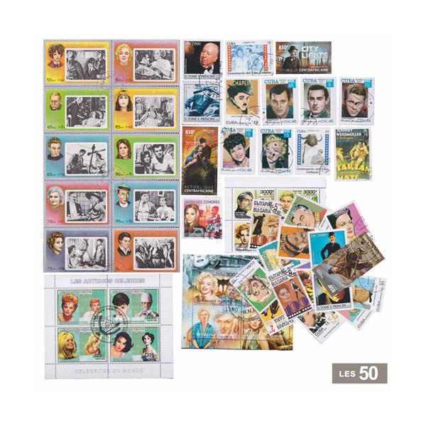 Les 50 timbres* Artistes de cinéma