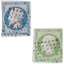 Les 2 timbres de Napoléon III*