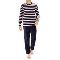 Pyjama velours rayé