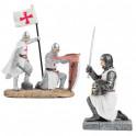 Les 2 figurines de Templiers