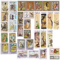 Les timbres art japonais