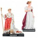 Les 2 figurines : Napoléon Ier et Joséphine de Beauharnais