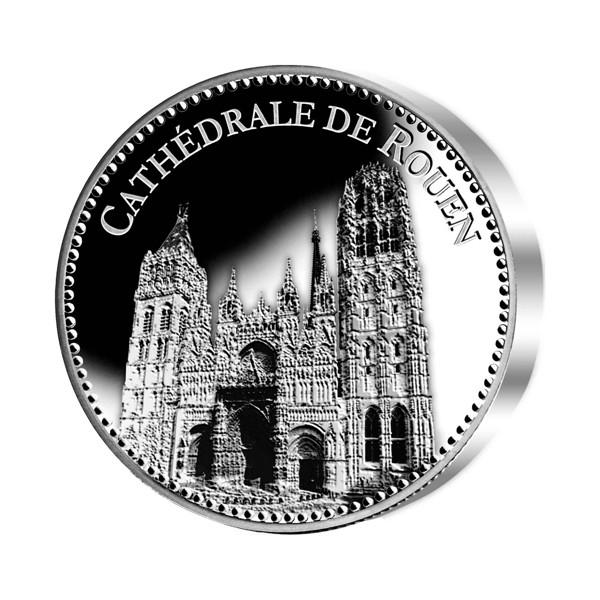 La médaille Cathédrale de Rouen Argent BE