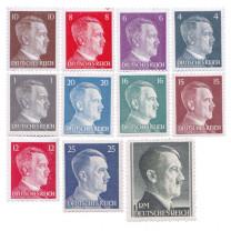 Les 11 timbres du IIIe Reich Hitler 1941