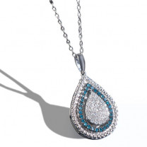 Collier diamants blancs & bleus