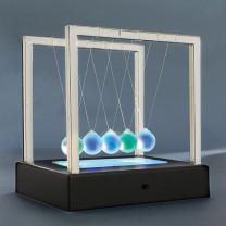 Pendule de Newton lumineux