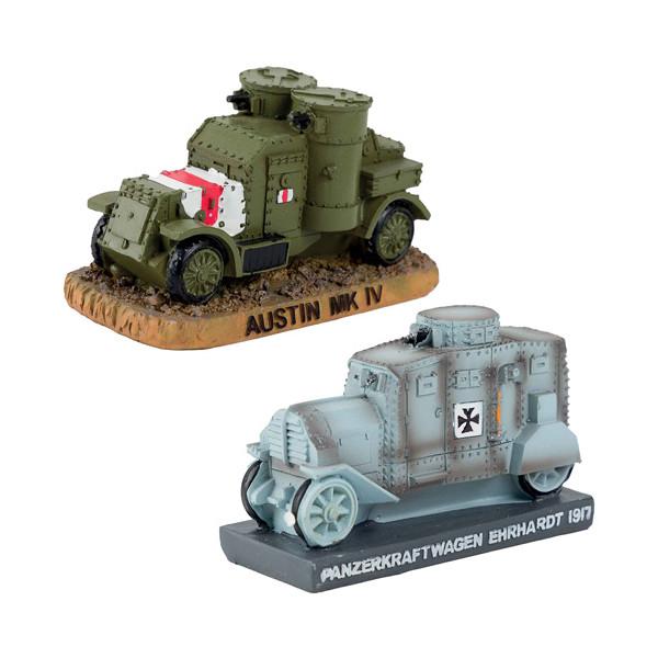 Les deux automitrailleuses de la Grande guerre