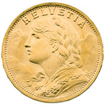 20 Francs Or Suisse Vrénéli
