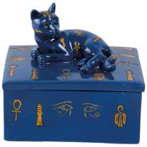 La Boîte à bijoux bleue Chat égyptien