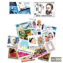 Les 500 timbres Célébrités