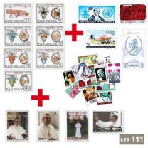 Les 111 timbres Vatican