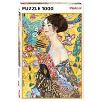 Le puzzle Dame à l'éventail de Klimt