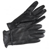 Gants cuir Élégance Noir - la paire