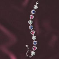 Bracelet «cœurs précieux»