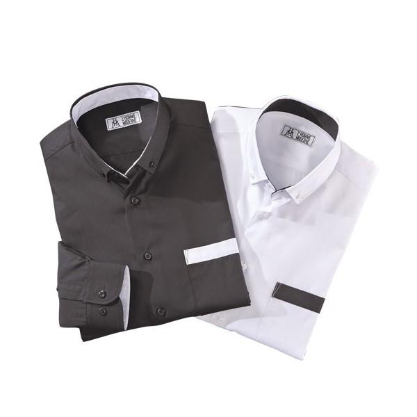 Chemises easy-care «Black & White» - les 2