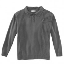 Pull-polo maille torsade