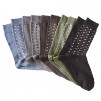 Chaussettes coton stretch - les 10 paires
