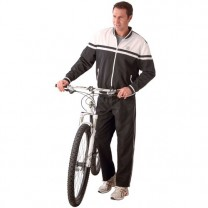 Jogging microfibre black & white