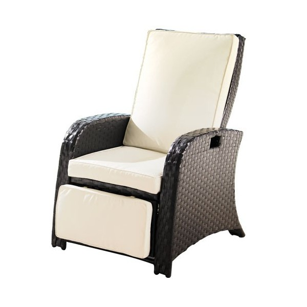 Fauteuil-relax «rotin»