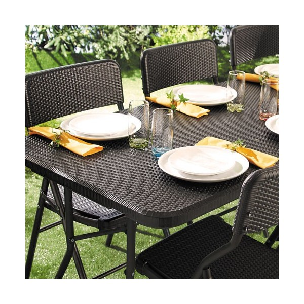 Ensemble de jardin rotin 1 table 4 chaises acheter for Ensemble table chaise jardin