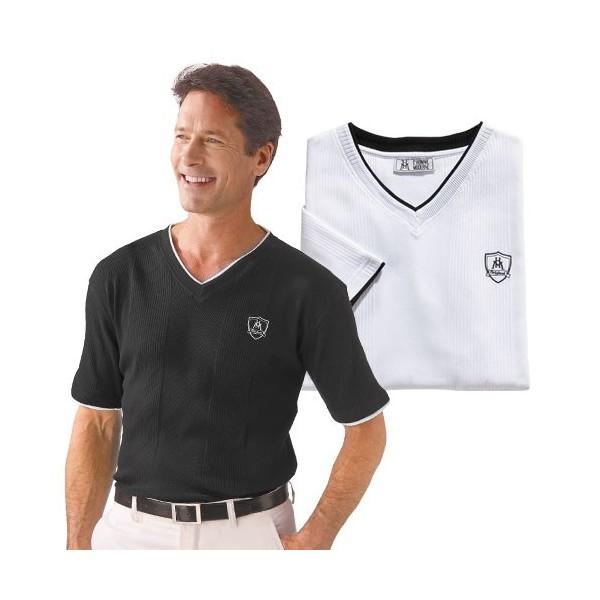 Tee-shirts coton black & white - les 2