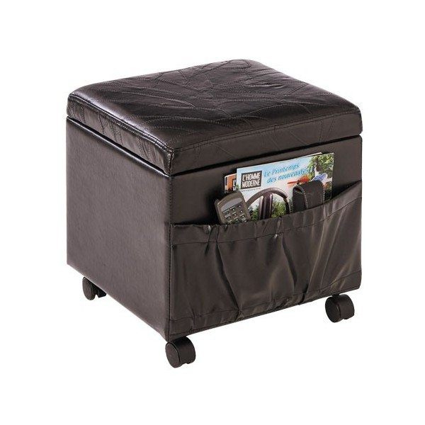 pouf coffre 3 en 1 en cuir acheter meubles fauteuils l 39 homme moderne. Black Bedroom Furniture Sets. Home Design Ideas