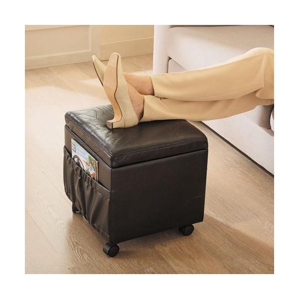 pouf coffre 3 en 1 en cuir acheter meubles fauteuils. Black Bedroom Furniture Sets. Home Design Ideas