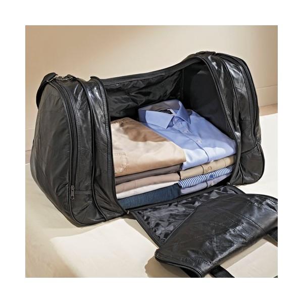 sac de voyage en cuir easy travel acheter maroquinerie l 39 homme moderne. Black Bedroom Furniture Sets. Home Design Ideas