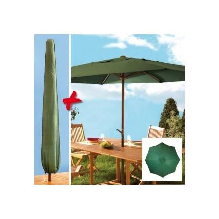 parasol manivelle rond et housse acheter d coration mobilier de jardin l 39 homme moderne. Black Bedroom Furniture Sets. Home Design Ideas