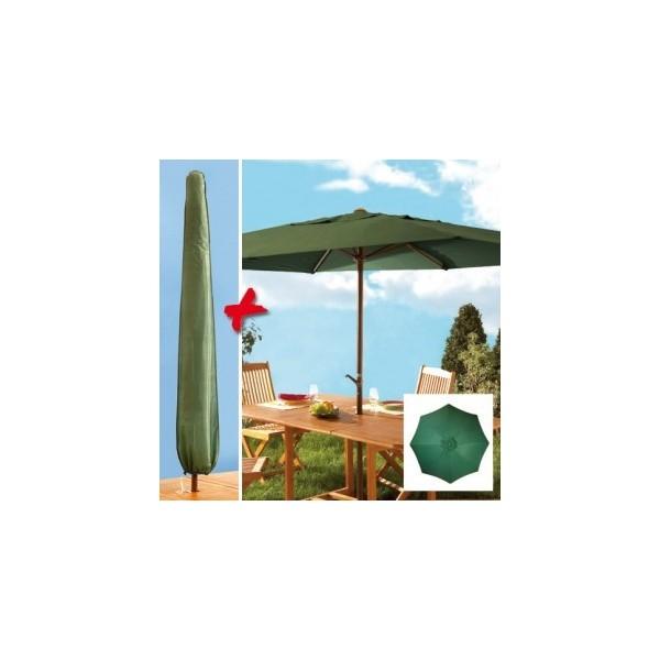 Parasol à manivelle rond et housse