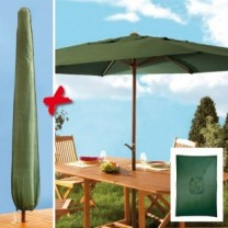 Parasol à manivelle rectangulaire et housse
