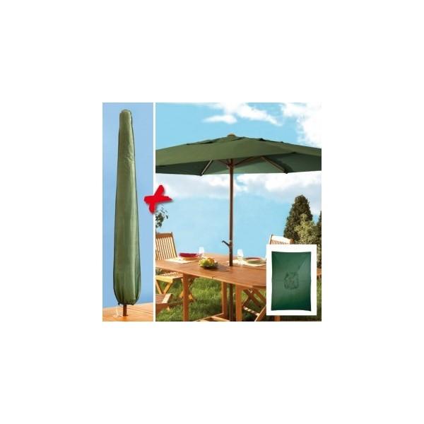 parasol manivelle rectangulaire et housse acheter d coration mobilier de jardin l 39 homme. Black Bedroom Furniture Sets. Home Design Ideas