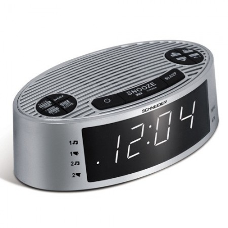 Radio-réveil «auto-set» Schneider