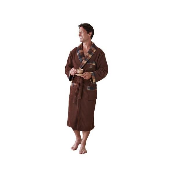 robe de chambre polaire acheter pyjamas robes de chambre l 39 homme moderne. Black Bedroom Furniture Sets. Home Design Ideas