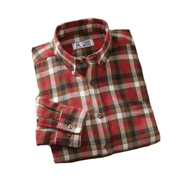 chemise coton flanelle acheter chemises chemisettes l 39 homme moderne. Black Bedroom Furniture Sets. Home Design Ideas