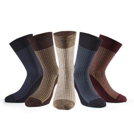 Chaussettes Jacquard Laine - les 5 paires