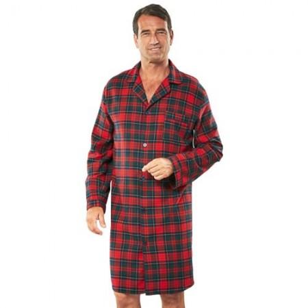 chemise de nuit flanelle acheter pyjamas robes de chambre l 39 homme moderne. Black Bedroom Furniture Sets. Home Design Ideas