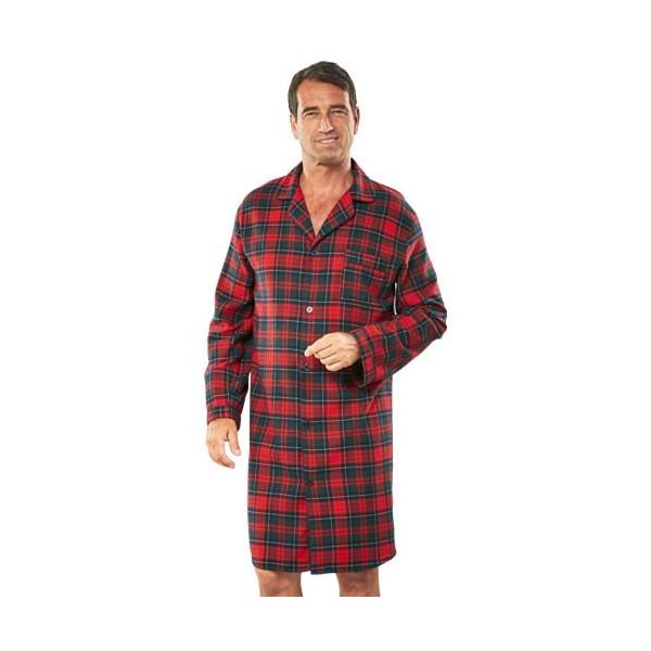 chemise de nuit flanelle acheter pyjamas robes de. Black Bedroom Furniture Sets. Home Design Ideas