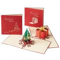Cartes de vœux 3D - les 4