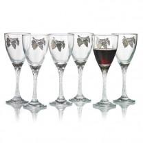 Verres à vin «vigne d'Étain»