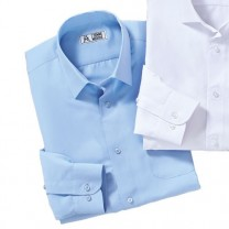 Chemise microfibre faux-boutonnage Bleu ciel