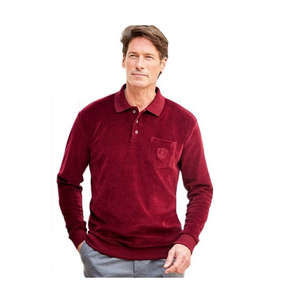 polo velours bordeaux acheter chemises polos l 39 homme moderne. Black Bedroom Furniture Sets. Home Design Ideas