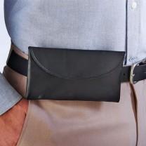 Pochette-ceinture en cuir