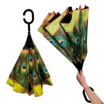 Parapluie inversé Paon